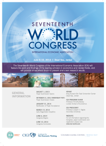 The International Economic Association 17th World Congress
