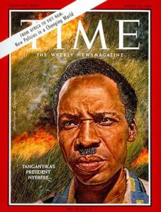 Nyerere on the cover of Time Magazine on March 13, 1964