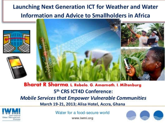 IMWI - ICT for weather and water information and advice to smallholders in africa