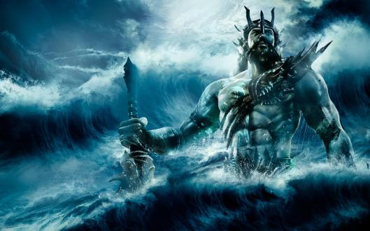 Illustration of Poseidon from HQWallBase- Mythical King of the Seas & Chief patron of Corinth, and  Plato's  Atlantis.